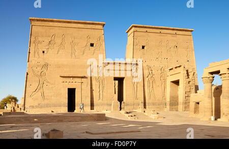 Egypt - Edfu, Temple of Horus - Stock Photo