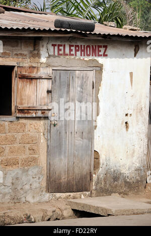 Togo, Nayamassilla village, local public phone - Stock Photo