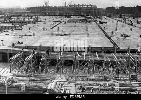 Automobile industry: VW plant under construction - building of the VW plant in Fallersleben, 1938 - Stock Photo