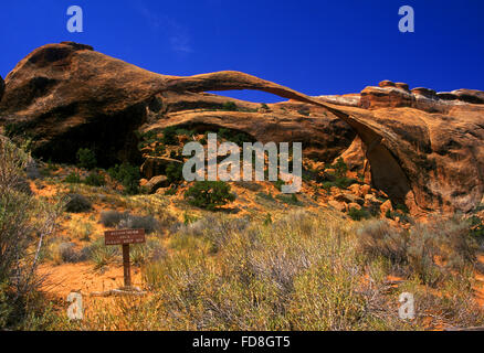 Low Angle View Of Natural Arch Against Clear Blue Sky - Stock Photo