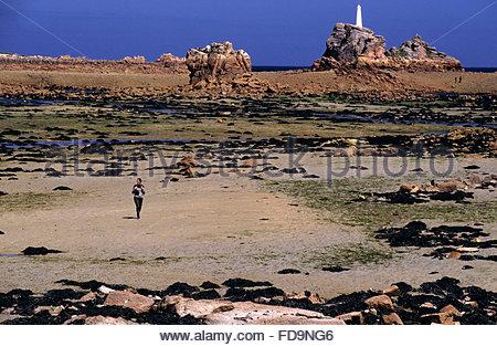 Amer near Ar Morbic island, Brittany - Stock Photo
