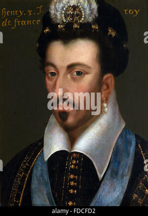 Portrait of Henri III -  Henry III 1551 – 1589 King of France French - Stock Photo