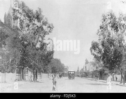 SOUTH AFRICA: Du Toits Pan road, antique print 1899 - Stock Photo