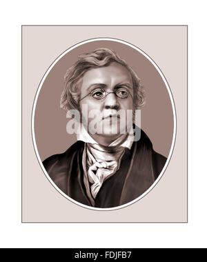 William Makepeace Thackeray, Novelist, Portrait - Stock Photo