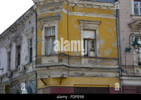 Many buildings in Sarajevo still show the damage scars of the 1992-96 siege of the city. - Stock Photo