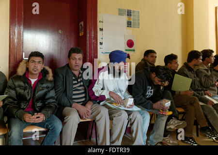 Berlin, Germany, registration of refugees - Stock Photo