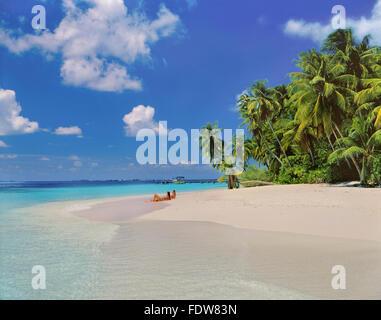 Kuda Bandos Island, North Male Atoll, Maldives, Maldive Republic, Indian Ocean Attol - Stock Photo