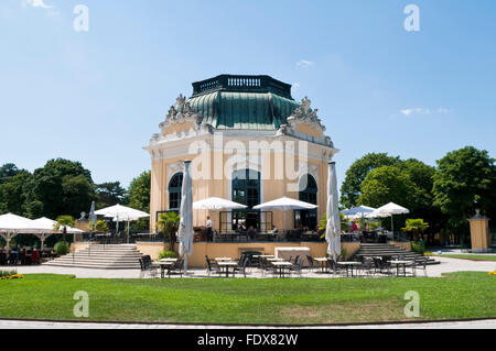 The imperial breakfast pavilion at Vienna zoo, Tiergarten Schoenbrunn - Stock Photo