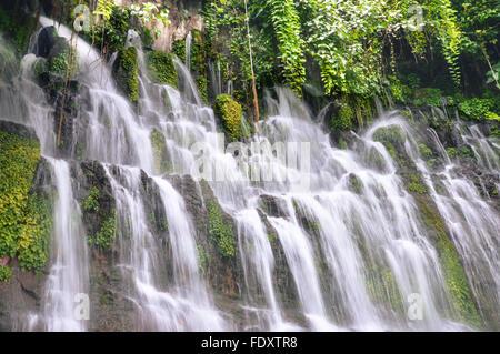 Chorros de la Calera waterfalls in Juayua, Ruta de las Flores itinerary,  El Salvador - Stock Photo