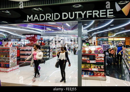 Spain Europe Eurozone Spanish Hispanic MAD Adolfo Suárez Madrid-Barajas Airport international duty free shopping - Stock Photo