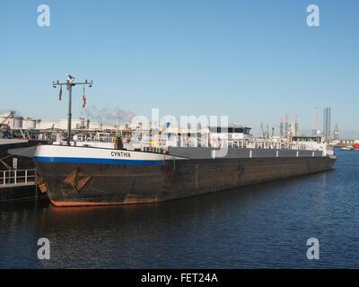 Cynthia (ship, 1993) ENI 07001733 Port of Rotterdam pic2 - Stock Photo