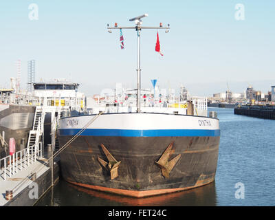 Cynthia (ship, 1993) ENI 07001733 Port of Rotterdam pic3 - Stock Photo