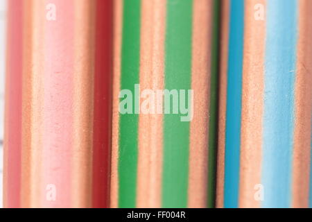 Detail of colored pencils - Stock Photo
