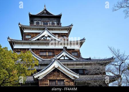 Japan, Honshu island, Chugoku, Hiroshima, the castle. - Stock Photo