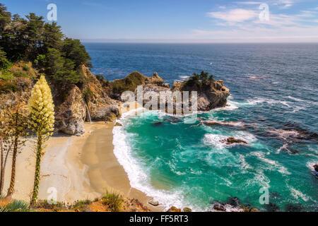Beautiful Julia Pfeiffer beach in Big Sur. California - Stock Photo