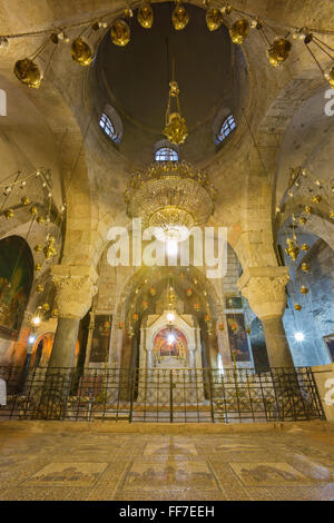 JERUSALEM, ISRAEL - MARCH 4, 2015: The Chapel of Saint Helena in the Church of Holy Sepulchre. - Stock Photo