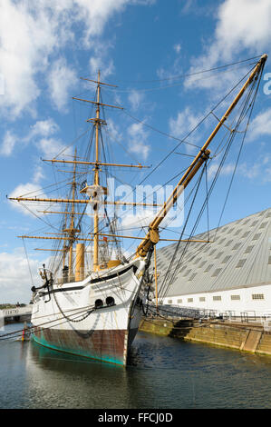 HMS Gannet, A Royal Navy Doterel-class screw sloop, Chatham Historic Dockyard, Kent, England, UK - Stock Photo