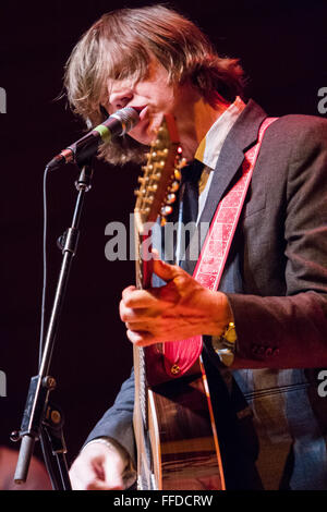 Milan Italy. 09 December 2011. The American singer/songwriter THURSTON MOORE performs live on stage at Teatro Dal - Stock Photo