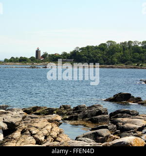 View to the Baltic Sea on the island Bornholm. Denmark - Stock Photo