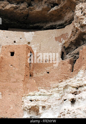 Montezuma Castle, well-preserved ancestral Puebloan cliff dwellings built and used by Sinagua people, pre Columbian - Stock Photo