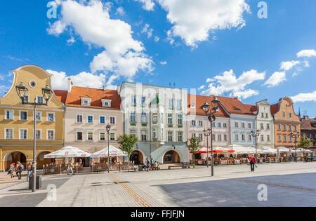 Poland, Upper Silesia, Gliwice (Gleiwitz), view of Rynek, the Market Square - Stock Photo