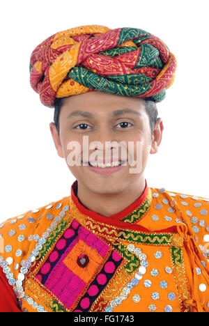 Rajasthani man in traditional attire MR#782W - Stock Photo