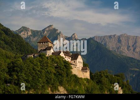 Castle of Vaduz, Schloss Vaduz, Rheintal, Rhine-valley, Liechtenstein. - Stock Photo