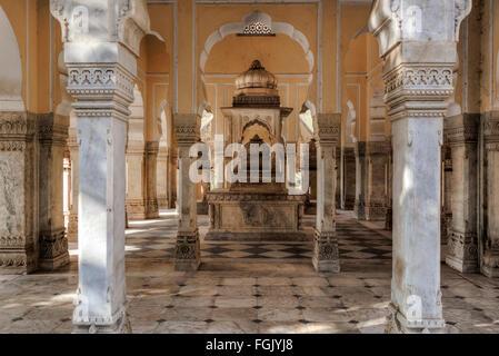 Gatore Ki Chhatriyan, Jaipur, Rajasthan, India - Stock Photo