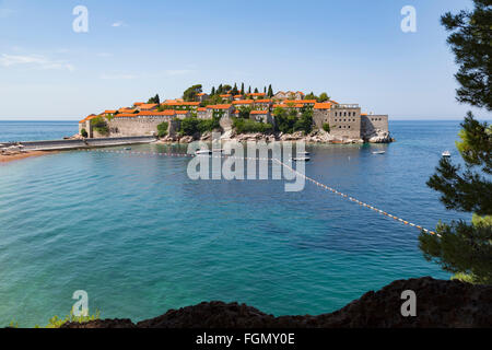 Sveti Stefan, near Budva, Montenegro. - Stock Photo