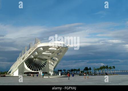Rio de Janeiro, Brazil - February 18, 2016, Museum of Tomorrow (Tomorrow Museum), designed by Spanish architect - Stock Photo