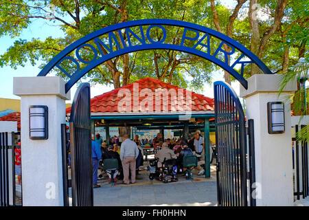 Domino Park Calle Ocho Little Havana The Cuban American distric  Miami Florida FL - Stock Photo