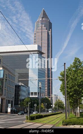 Messeturm, Frankfurt,Germany - Stock Photo