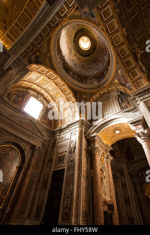 Inside St Peters Basilica Church, Rome, Italy - Stock Photo