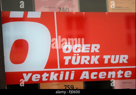 Markenname: 'Oeger Tuerk Tur', Berlin. - Stock Photo
