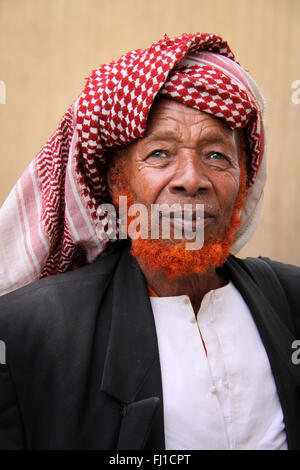 Old Muslim man sufi in Harar , Ethiopia - Stock Photo