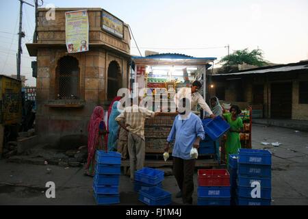 Shop in a street of Jaisalmer, India - Stock Photo