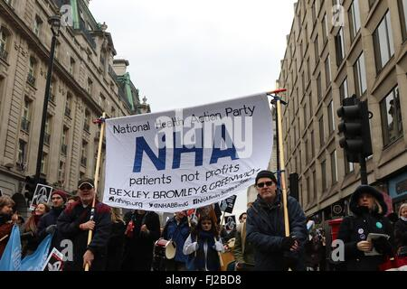Trident Demonstration, organized by Campaign for Nuclear Disarmament, London, England, UK. 27/02/2016 - Stock Photo