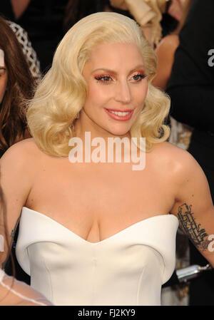 Hollywood, CA, USA. 28th Feb, 2016. 28 February 2016 - Hollywood, California - Lady Gaga. 88th Annual Academy Awards - Stock Photo