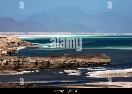Salt Reserve Lake Assal, Djibouti, Africa - Stock Photo
