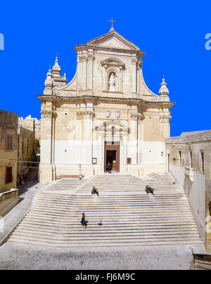 The Cathedral of Assumption, The Citadella, Città Victoria, Gozo (Għawdex), Gozo Region, Republic of Malta - Stock Photo