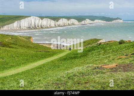 Seven Sister Cliff Formation near Eastbourne, East Sussex, South England |  Seven Sisters Kreidefelsen, Suedengland - Stock Photo