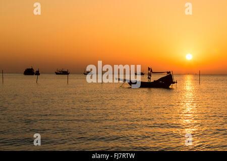 Sunset in Ha Long Bay, Vietnam - Stock Photo