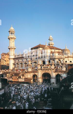 Jama masjid crawford market, mumbai, maharashtra, india, asia - Stock Photo