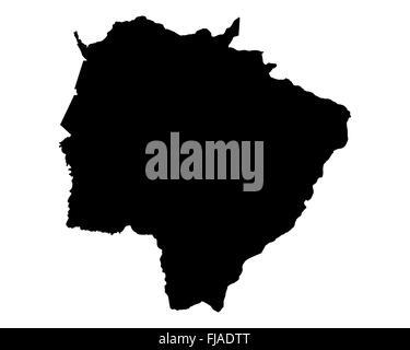 Map of Mato Grosso do Sul - Stock Photo