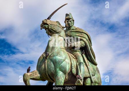 General Ignacio Allende Statue Plaza Civica San Miguel de Allende Mexico. General who first led revolt against Spain - Stock Photo