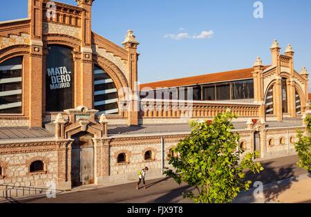 Matadero, Madrid Rio Park. Madrid, Spain. - Stock Photo