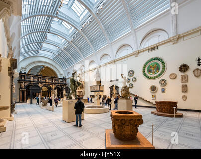 Medieval and Renaissance Gallery, Victoria and Albert Museum, South Kensington, London, England, UK - Stock Photo