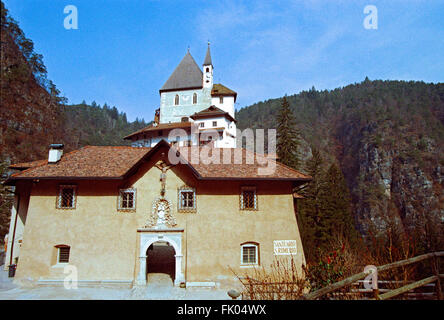Italy, Trentino Alto Adige, Trento district, Val di Non,  San Romedio Sanctuary - Stock Photo