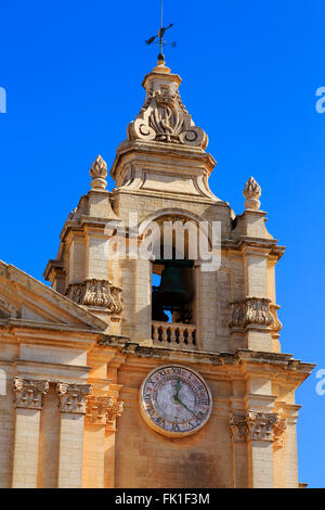 St Pauls Cathedral, Mdina, Malta - Stock Photo