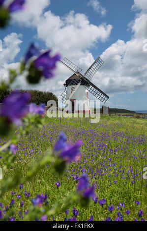 Windmill in Vila do Porto. Santa Maria Island, Azores. Portugal - Stock Photo